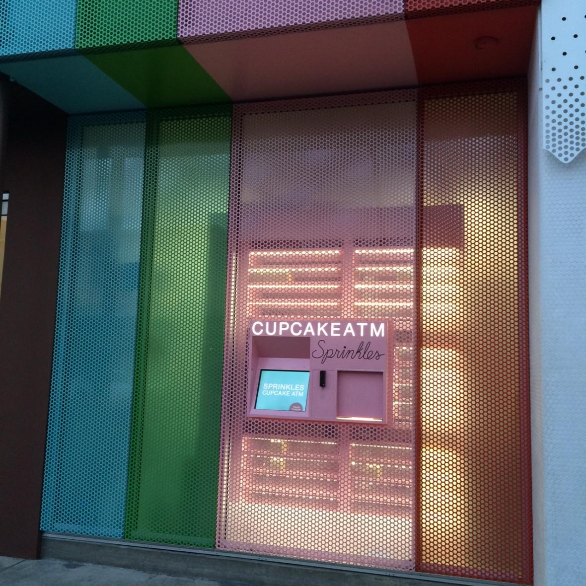 The cupcake ATM at Sprinkles