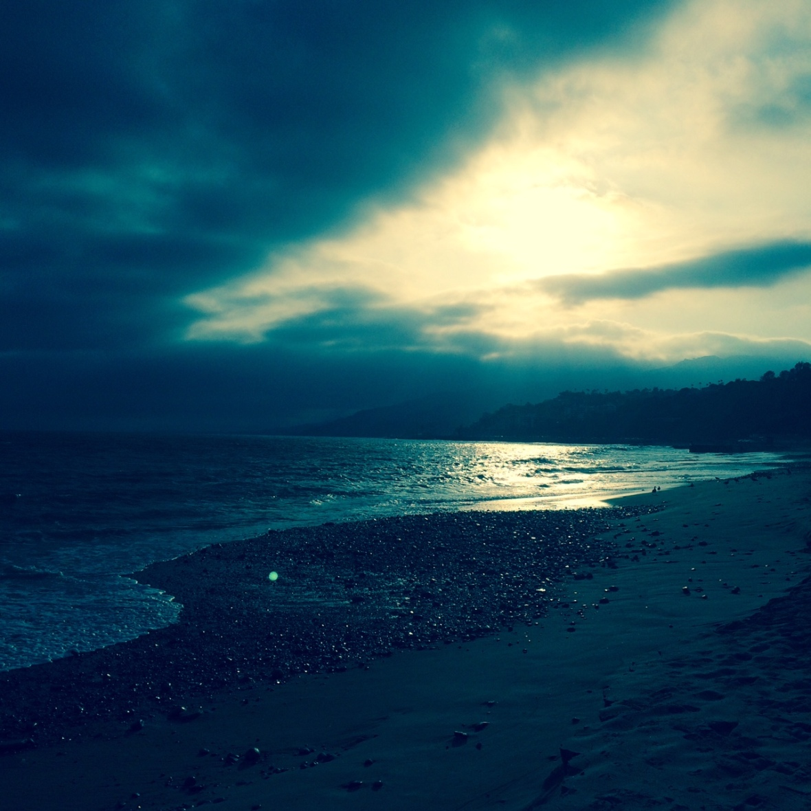 Beach with filter