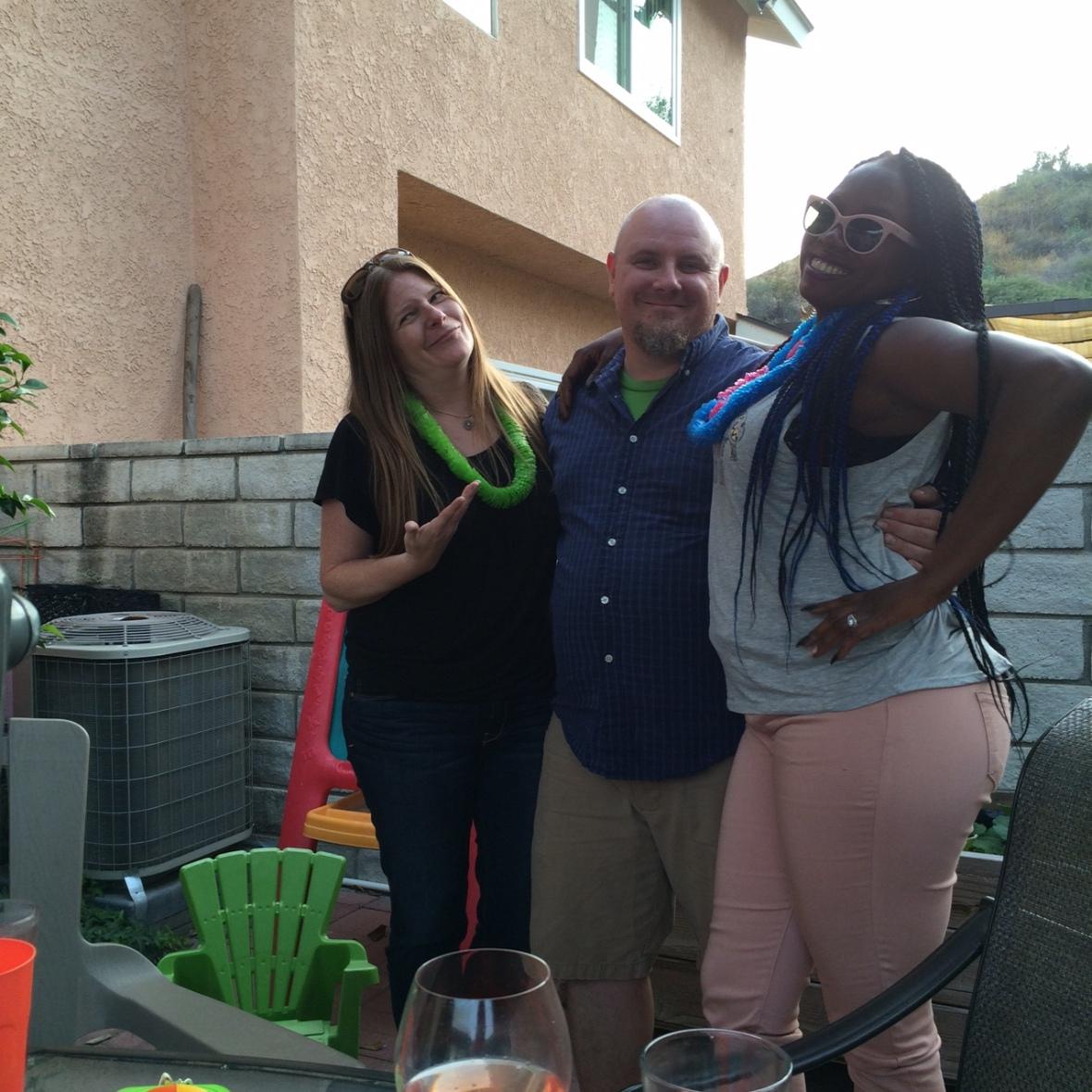Greg, Raven and I