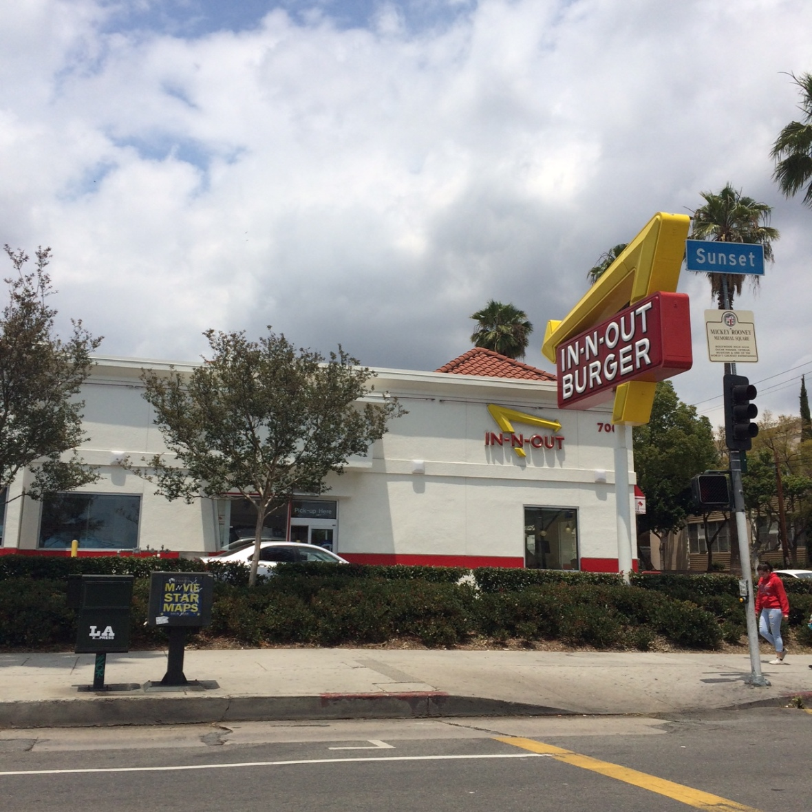 In-N-Out Burger on Sunset