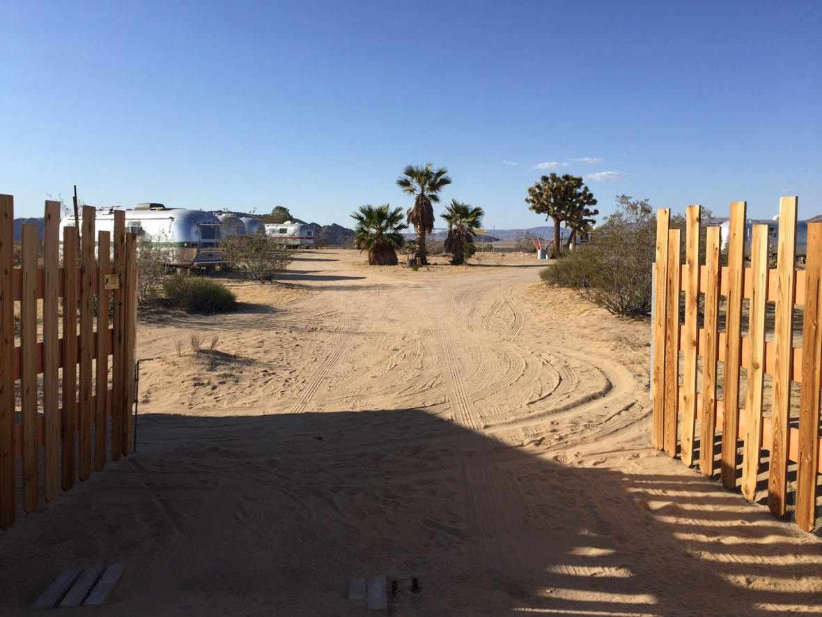 The gate for Kate's Lazy Desert