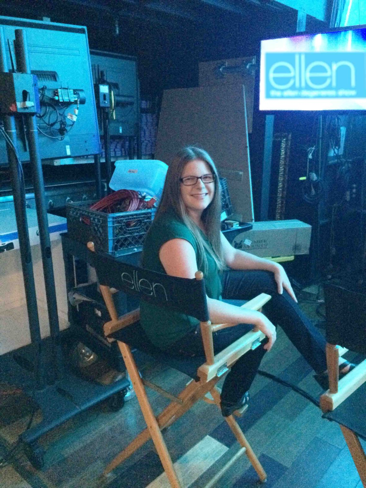 Backstage in the Director's chair!