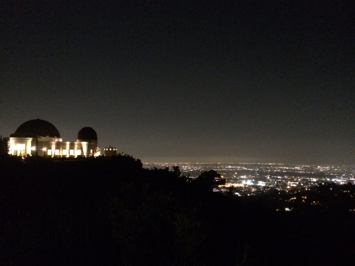 Griffith Observatory overlooking LA