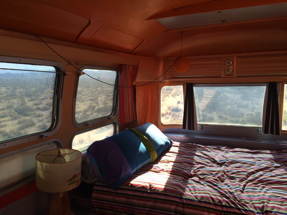 Our view of the desert from our airstream