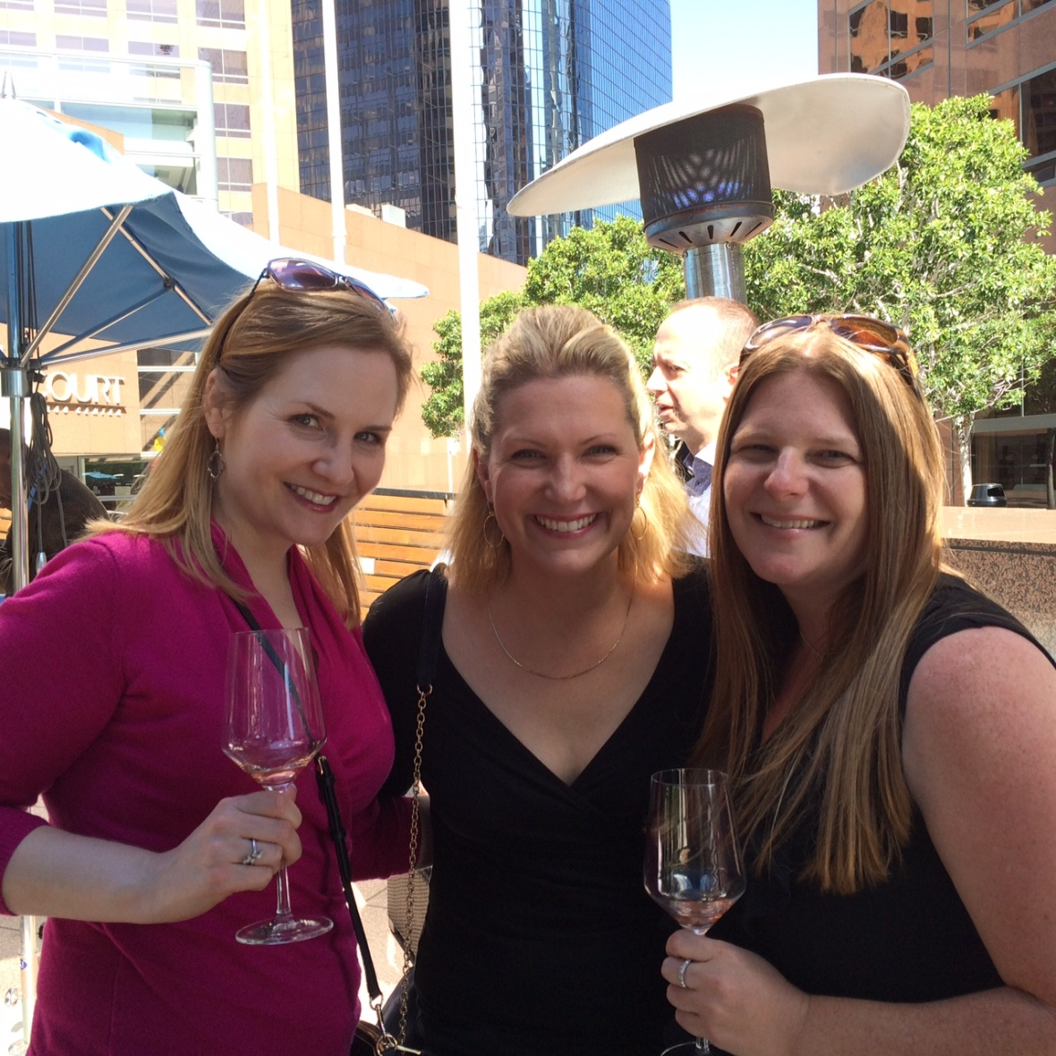 Gretchen, my new friend Tonia and I enjoying some delicious wine
