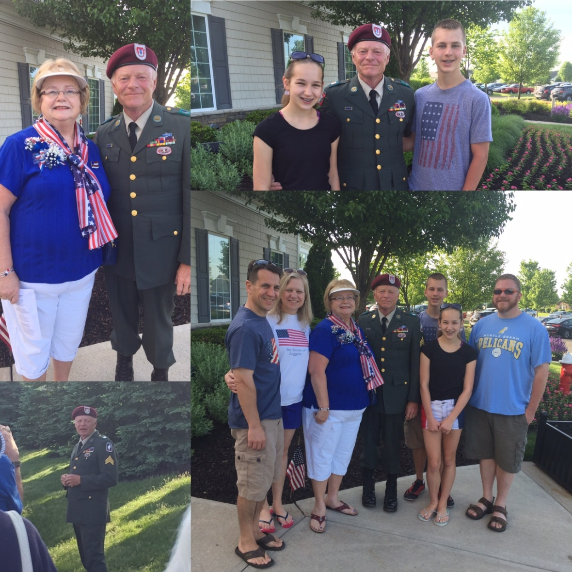 My family at my dad's Memorial Day presentation